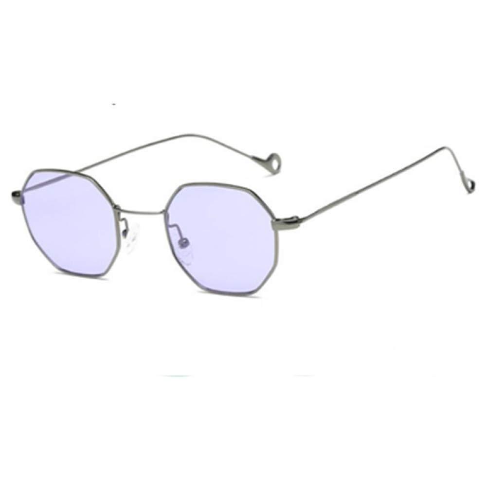 Amazon.com : YLNJYJ Gafas De Sol De Color De Moda Hexágono ...