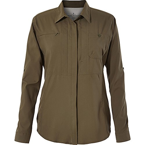 Price comparison product image Royal Robbins Women's Expedition Chill Long Sleeve Top, Loden, Large