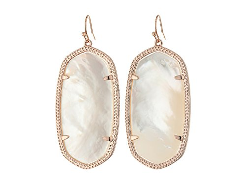 - Kendra Scott Women's Danielle Earrings Rose Gold/Ivory Mother Of Pearl Earring