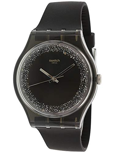 Swatch Mens Analogue Quartz Watch with Silicone Strap SUOB156