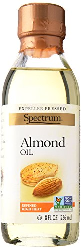 - Spectrum Naturals Refined Almond Oil, 8 Ounce