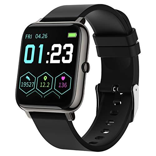 Smartwatch Mujer Hombre,Relojes Inteligentes Impermeable IP67 con Pulsómetros Podómetro Cronómetros Monitor de Sueño Contador de Caloría Reloj Digital Pulsera Actividad Inteligente para Android iOS a buen precio