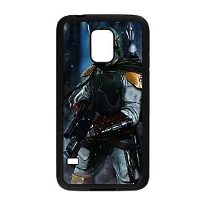 caso de Star Wars Boba Fett Arte O3G42Z8KX funda Samsung Galaxy Mini funda S5 5H1J5E negro