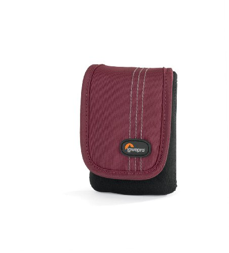 - Lowepro Dublin 10 Slim Profile Pouches for Cameras and Compact Video Cameras (Black/Bordeaux Red)
