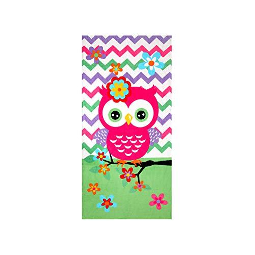 Hencely Owls Kid's Bath Towel (Towels Owl Bath)