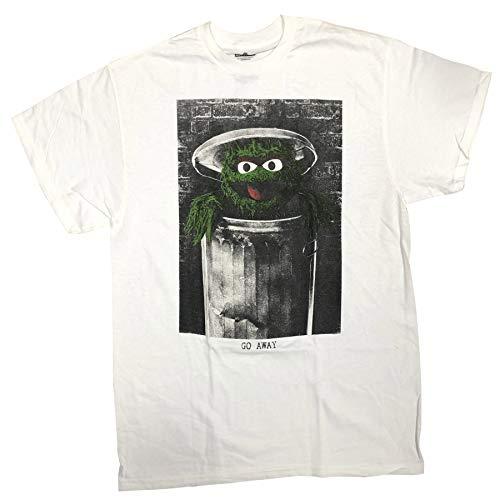 Sesame Street Oscar The Grouch Go Away Adult T-Shirt 2X