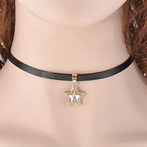 Florance jones Hot Retro Choker Necklace Black Classic Velvet Leather Gothic Tattoo Necklace #w | Model BRCLT - 47317 | (Velvet Hat Pimp)