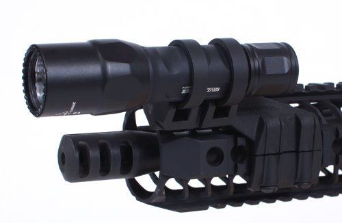 Magpul Rail Light Mount (Left Side Mounted) with SureFire 6PX Pro Dual-Output LED Flashlight by Magpul
