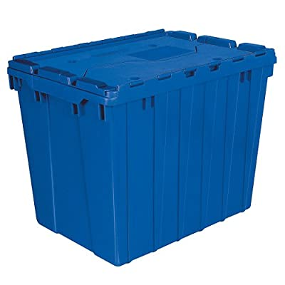 Akro-Mils Plastic Storage and Distribution Container Tote with Hinged Lid, 21.5-Inch L by 15-Inch W by 17-Inch H, Case of 3 by Akro-Mils