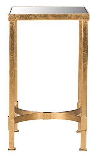 Safavieh Home Collection Halyn Gold Leaf Mirror Top End Table ()