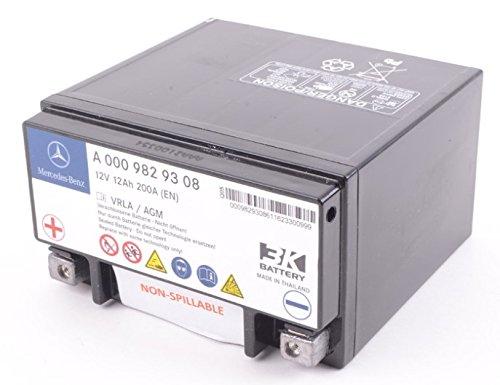 W222 W212 後期 W463 サブバッテリー バックアップバッテリー/純正品 12AH 新品 000-982-9308 B078J575YN
