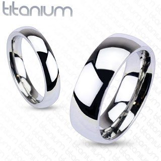 6mm Titanium Plain Mirror Glassy Comfort Fit Wedding Band Ring Sz 5-13; Comes with Free Gift Box (9)