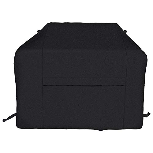 iCOVER BBQ Grill Cover-70 Inch UV Fade Resistant Heavy-Duty Water Proof Patio Outdoor Barbecue Gas Grill Smoker Cover 600D Canvas Cover for Weber Char-Broil Brinkmann Holland JennAir Nexgrill,Black ()