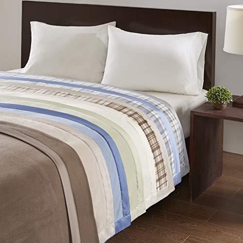 (Hebel Micro Fleece Luxury Blanket Green 6690 Twin Size Premium Soft Cozy Mircofleece for Bed, Coach or Sofa | Model BLNKT - 2 | 38Twin)