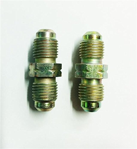 2 x Male To Male Brake Pipe Tube Connector Metric Steel Tubing 10mm x 1mm Joiner AutoPower
