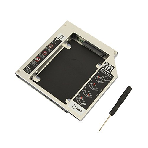 CNCT SATA 2nd HDD caddy for Universal CD/DVD-ROM - Expand your data storage on your Laptop with HDD/SSD (Serial Ata Integrated)