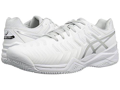 [asics(アシックス)] メンズランニングシューズ?スニーカー?靴 Gel-Resolution 7 Clay Court White/Silver 10 (28cm) D - Medium