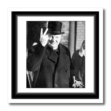 3dRose ht_98649_3 Vintage Photo of Winston Churchill.Jpg-Iron on Heat Transfer for White Material, 10 by - Winston Churchill Picture