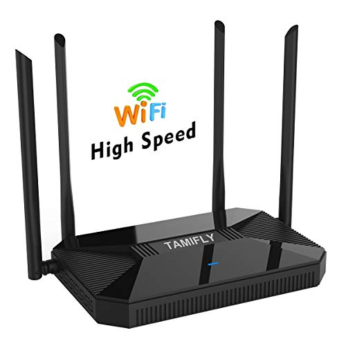 【Newest 2019】 Wireless WiFi Router High Speed Gaming Router Up to AC1200Mbps with Dual Band 2.4GHz and 5GHz Ideal for Home Office & HD Video Streaming Works Great with Any Devices