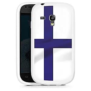 Silicona Carcasa blanco Funda para Samsung Galaxy S3 Mini - Finnland