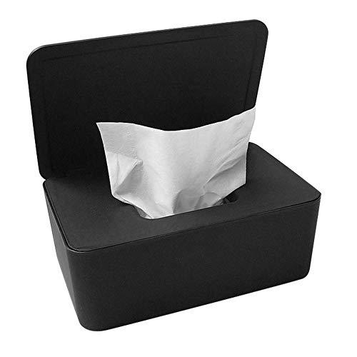 Tiakino Wipes Dispenser Holder, Dustproof Tissue Storage Box Case Wet Wipes Dispenser Holder with Lid for Home Office Desk