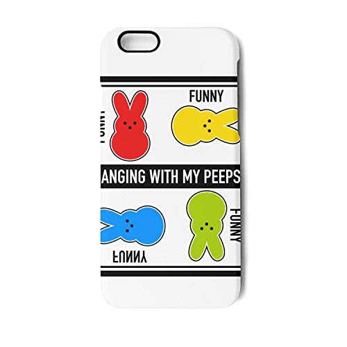 Hanging with My Peeps Funny Easter Bunny Unisex Woman's Boy's iPhone 7 Plus Iphone8S Plus 5.5 Inch Cool Suspension Case Cover Skin