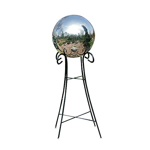 Wrought Iron Pedestal Base - Rome Industries 24-Inch Pedestal Base for 10-Inch & 12-Inch Gazing Balls in Wrought Iron