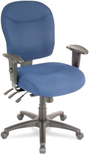 Alera WR42FB20B Wrigley Series Mid-Back Multifunction Chair with Blue Upholstery