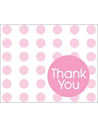 Creative Converting Baby Shower Pastel Pink Dots 8 Count Thank You Cards BOBEBE Online Baby Store From New York to Miami and Los Angeles