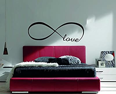 Love Infinity Quote Wall Decal - Love Is Forever Wall Decal Vinyl Sticker Teens Room Kids Decor