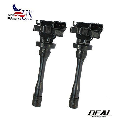 VioGi 2pcs Ignition Coils For Chrysler Dodge Mitsubishi UF295 E507D 2.4L 2.0L 1.8L L4 Sebring Stratus 2-Door Coupe Eclipse Galant Lancer Mirage (Mitsubishi Mirage 2 Door Coupe)