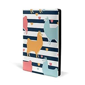 Llama Alpaca - Cuaderno de piel con diseño de rayas y ...