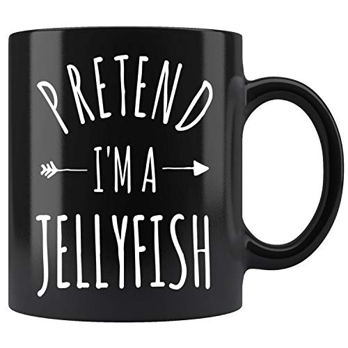 Pretend Im a Jellyfish Lazy Halloween Costume Mug Coffee Mug 11oz Gift Tea Cups -