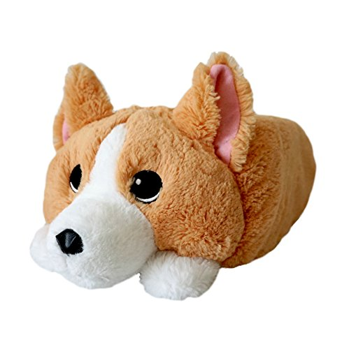 Memory Foam Corgi Stuffed Animal, Cute Pillow Plush Toy for Home and Travel, 16