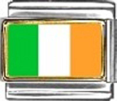 Ireland Photo Flag Italian Charm Bracelet Jewelry Link