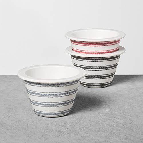 Hearth & Hand Melamine Stripe Dip Bowls, Set of 3