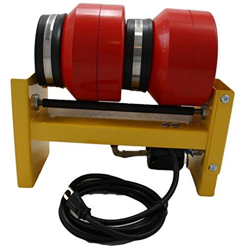 MJR Tumblers Dual Barrel 12 LB Rock Tumbler with Grit Kit by MJR Tumblers (Image #1)