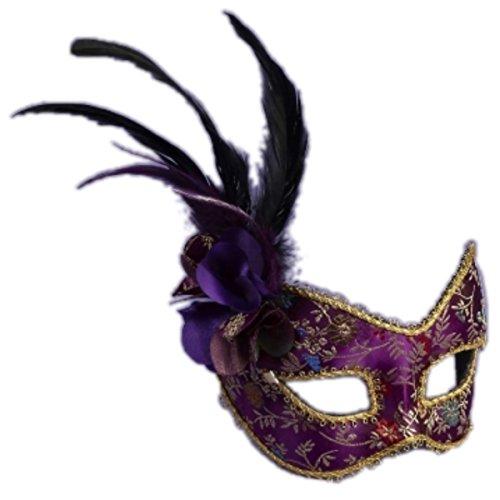 Purple Masquerade Mask on Eyeglass - Mask Glasses Masquerade With