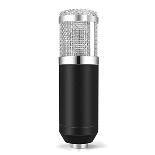 Live streaming Microphone Sound Studio Dynamic Mic +Shock Mount Condenser Pro Audio BM800 For Windows Mac (Black Silver) by Liu Nian (Image #1)