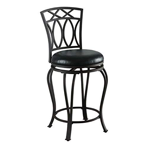 Excellent 24 Elegant Metal Counter Stool With Faux Leather Seat Black Ibusinesslaw Wood Chair Design Ideas Ibusinesslaworg