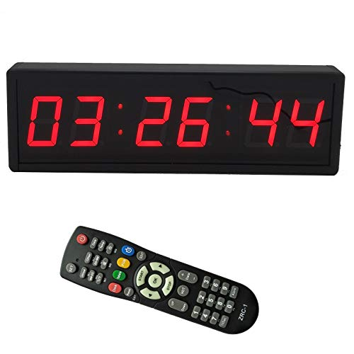 BTBSIGN 2.3'' 6Digits LED Wall Clock Digital Countdown Timer With Remote
