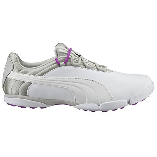 PUMA Golf Women's Sunnylite V2 Golf Shoe, White-Gray Violet-Purple Cactus Flower, 10 Medium US