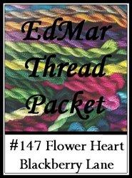 - Flower Heart - Blackberry Lane Brazilian Embroidery EdMar thread packet only #147