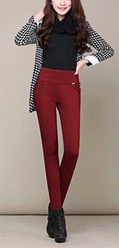 Pantaloni Autunno Pantaloni Fashion Ragazza High Solidi Hot Addensare Eleganti Leggins Donna Rot Colori Libero Elastico Pantaloni Di Matita Collant Basic Waist Skinny Tempo Termo Invernali rgfrB
