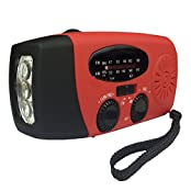 Handheld Emergency LED Flashlight + Radio (AM/FM) + Dynamo + Solar Self Powered + Charger for Cell Phones with...