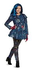 Disney Evie Deluxe Descendants 2 Costume, Blue, Medium (7-8)