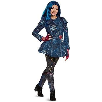 Disguise Evie Deluxe Descendants 2 Costume, Blue, Small (4-6X)