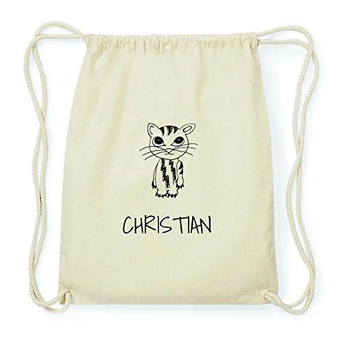 JOllipets CHRISTIAN Hipster Turnbeutel Tasche Rucksack aus Baumwolle Design: Katze gL2w2E