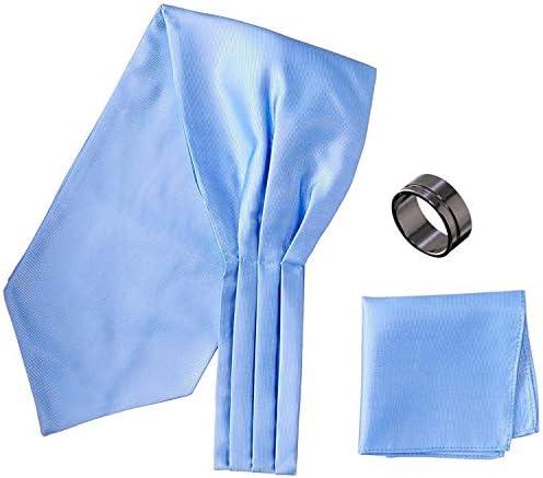 アスコットタイ・ポケットチーフ・タイリング マイクロポリ採用 チーフ メンズ タイリング:No.7 チーフ/タイ(タイプ/カラー):Blue-B