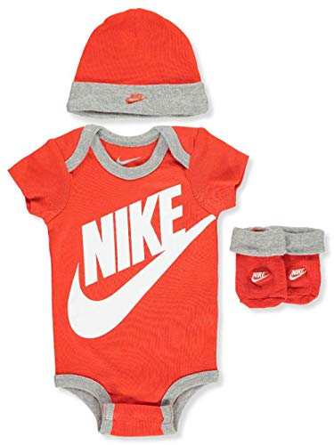 Baby Phat Cap - Nike Baby Boys' 3-Piece Infant Set - red, 0-6 Months
